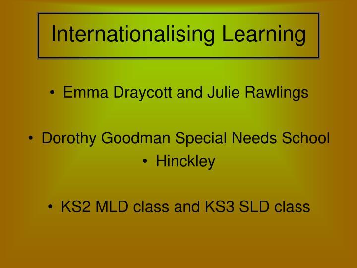 Internationalising learning