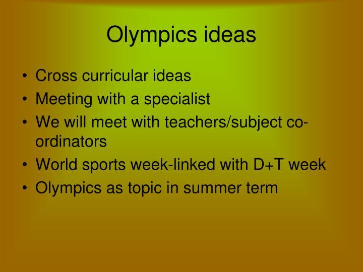 Olympics ideas