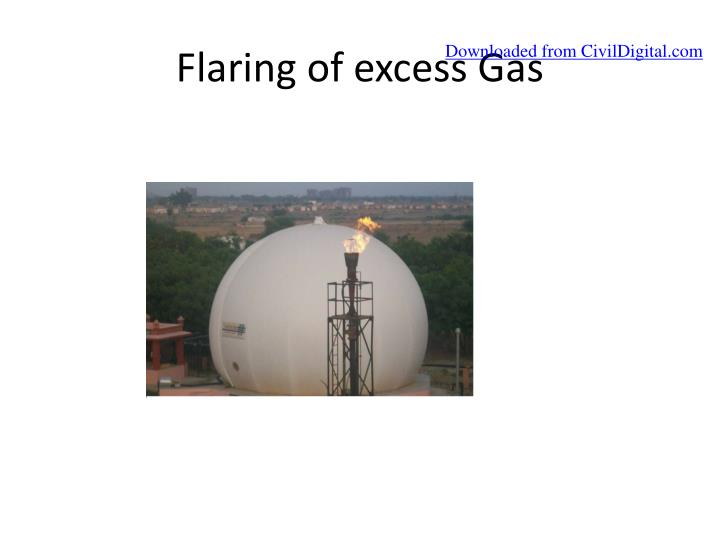 Flaring of excess Gas