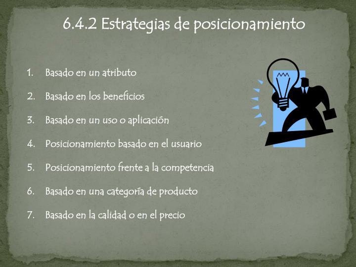 6.4.2 Estrategias de posicionamiento