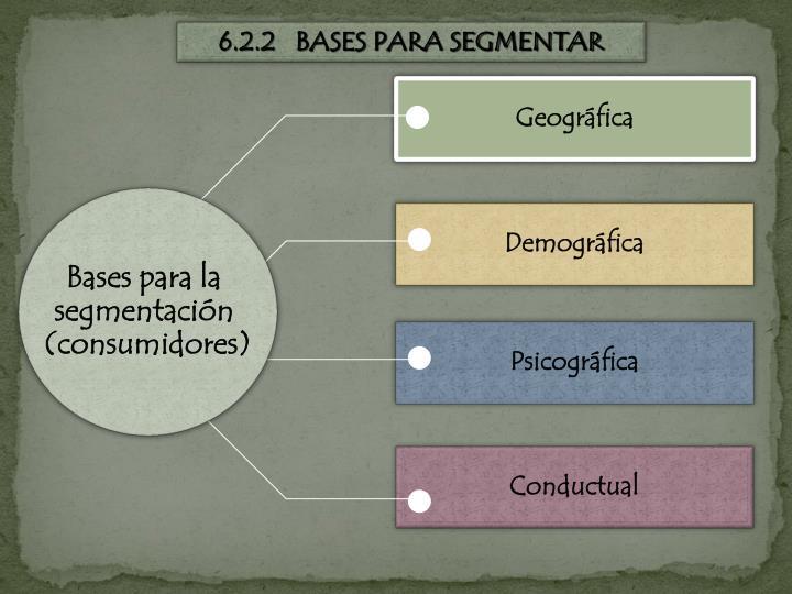 6.2.2   BASES PARA SEGMENTAR
