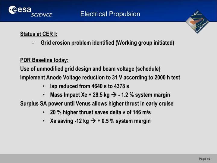 Electrical Propulsion