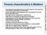 poverty characteristics in moldova