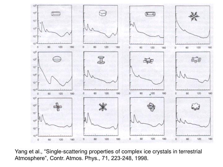 "Yang et al., ""Single-scattering properties of complex ice crystals in terrestrial"