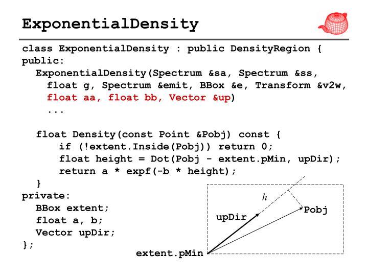ExponentialDensity