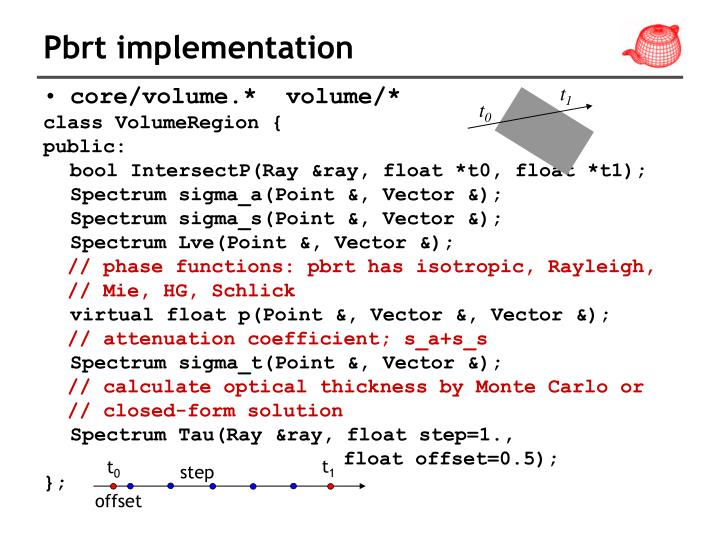 Pbrt implementation