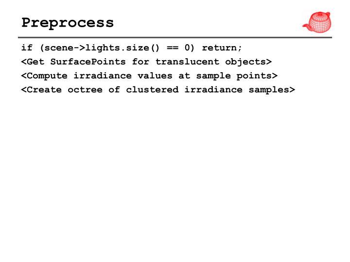Preprocess