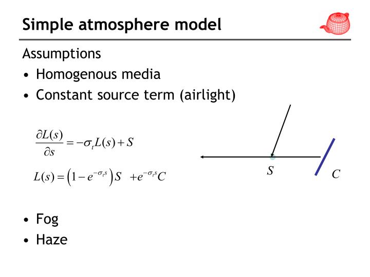 Simple atmosphere model