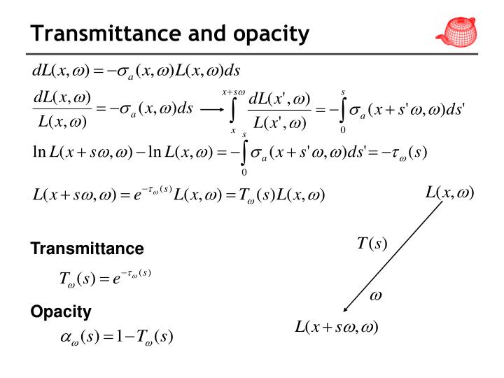 Transmittance and opacity