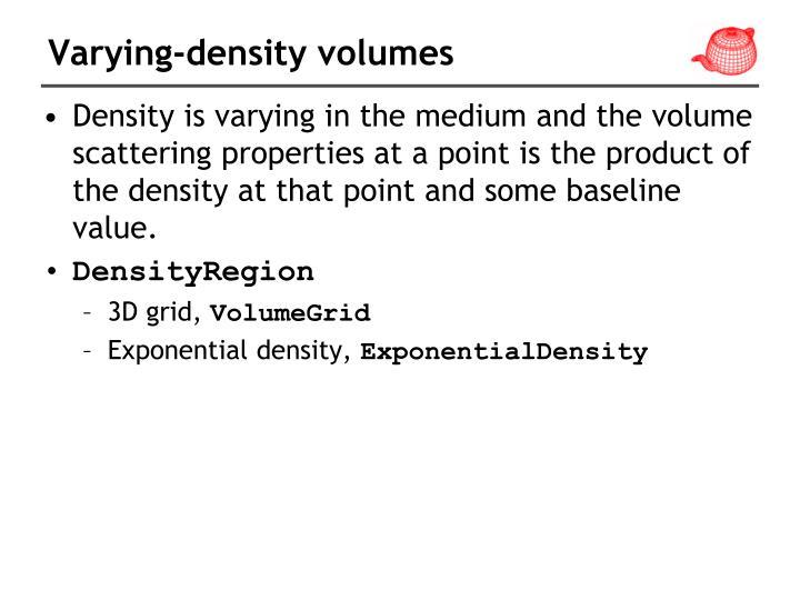 Varying-density volumes