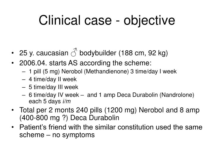 clinical case objective