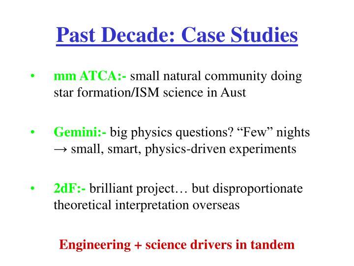 Past Decade: Case Studies
