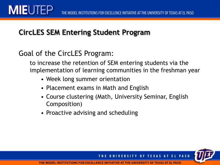 CircLES SEM Entering Student Program