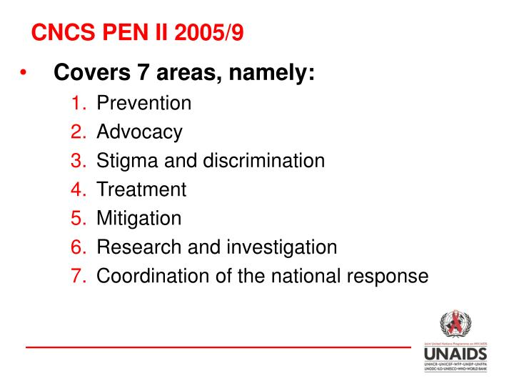 CNCS PEN II 2005/9