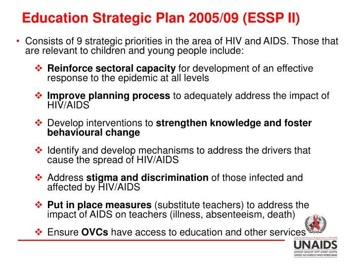 Education Strategic Plan 2005/09 (ESSP II)