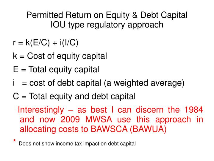 Permitted Return on Equity & Debt Capital