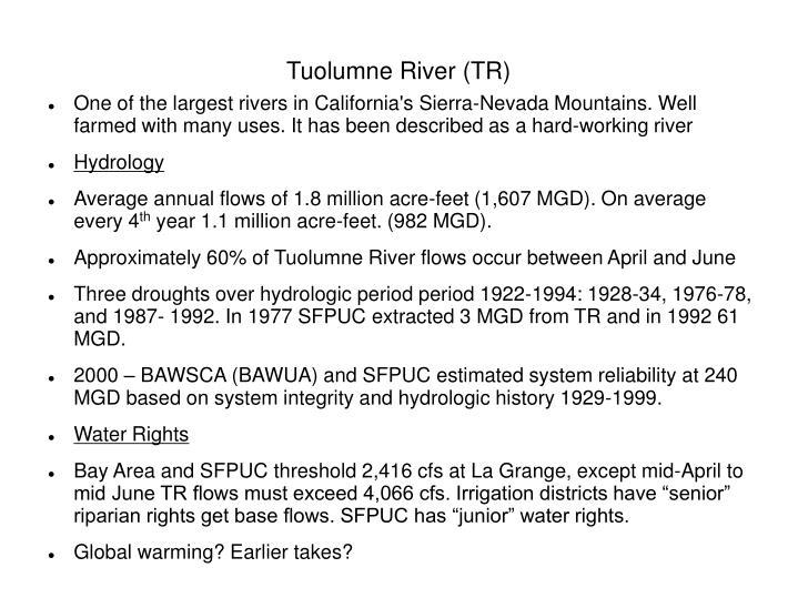 Tuolumne River (TR)
