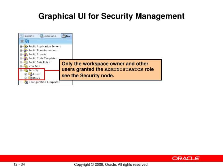 Graphical UI for Security Management