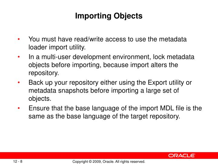 Importing Objects