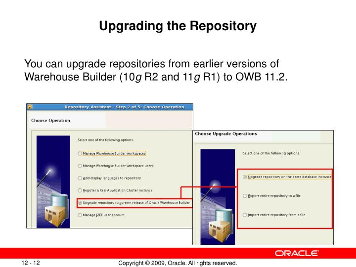 Upgrading the Repository