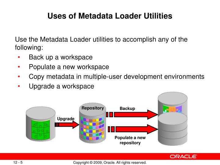Uses of Metadata Loader Utilities