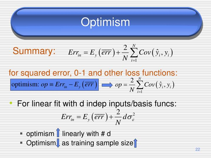 For linear fit with d indep inputs/basis funcs: