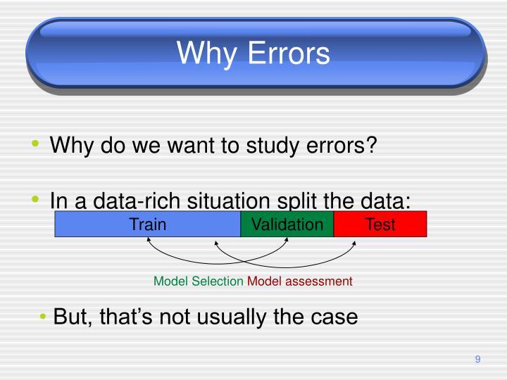 Why Errors