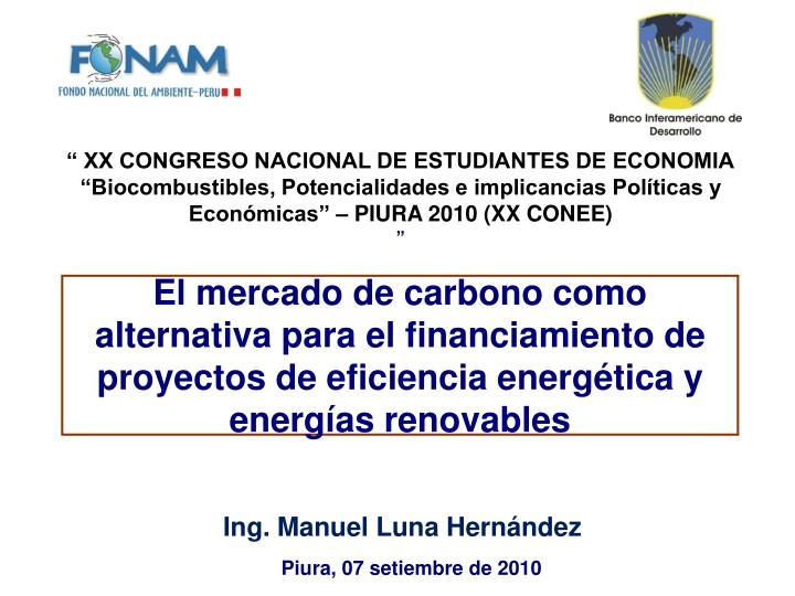 """ XX CONGRESO NACIONAL DE ESTUDIANTES DE ECONOMIA"