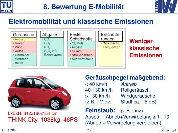 8. Bewertung E-Mobilität
