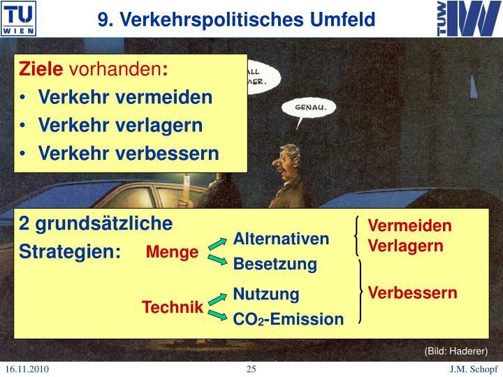 9. Verkehrspolitisches Umfeld