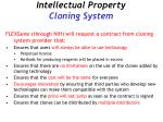 intellectual property cloning system