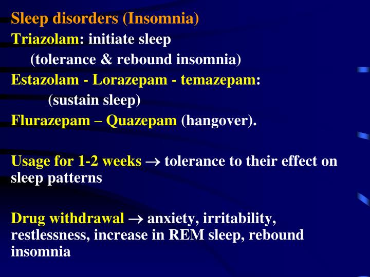 Sleep disorders (Insomnia)