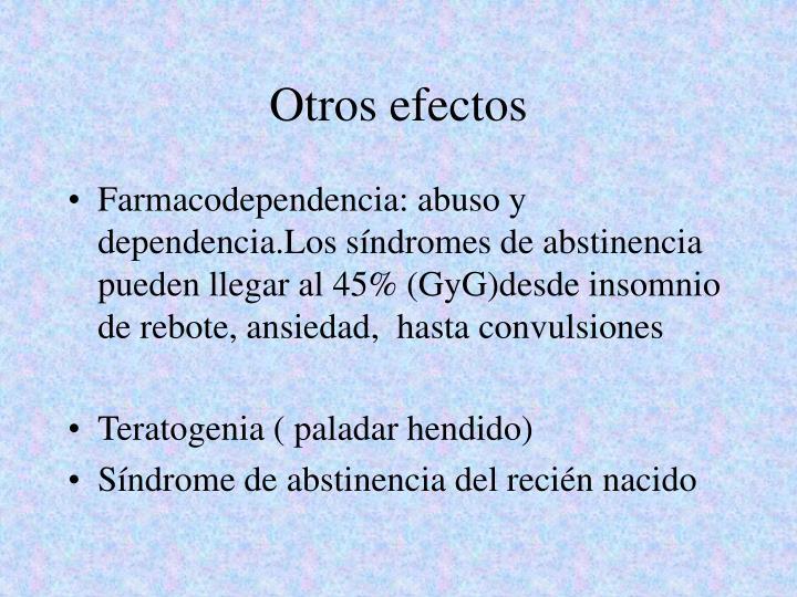 Otros efectos