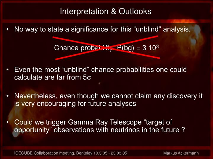 Interpretation & Outlooks