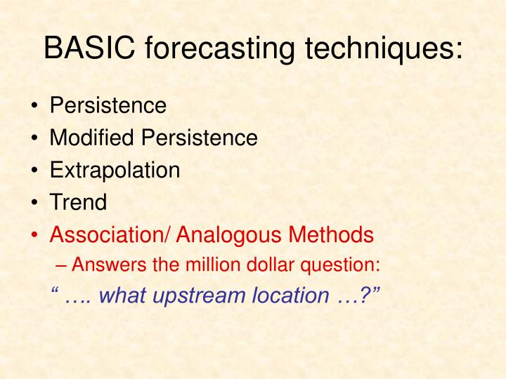basic forecasting techniques n.