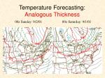 temperature forecasting analogous thickness
