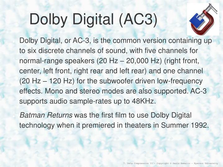 Dolby Digital (AC3)