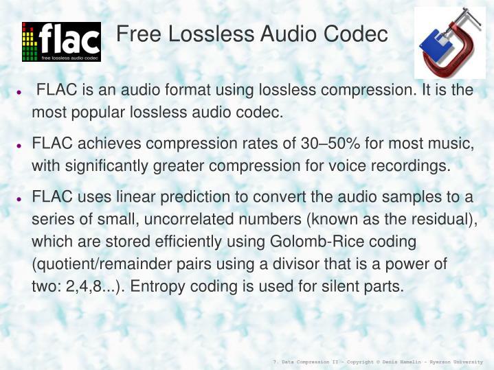 Free Lossless Audio Codec