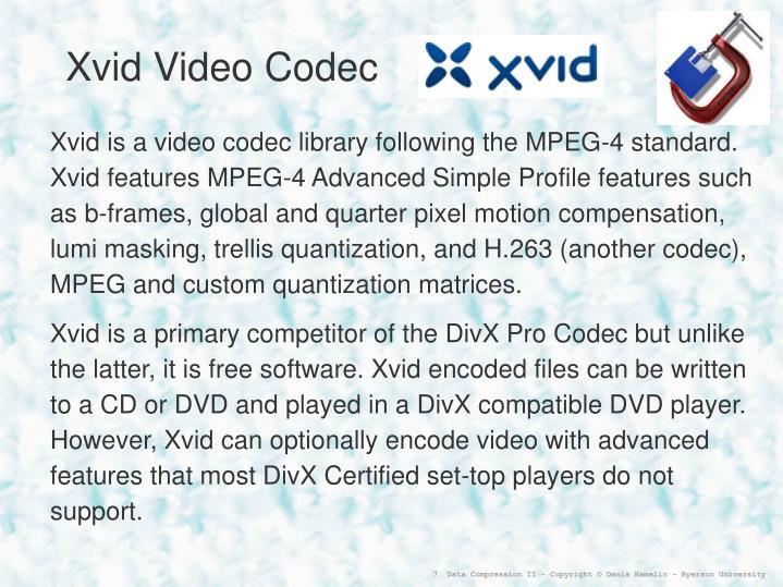 Xvid Video Codec