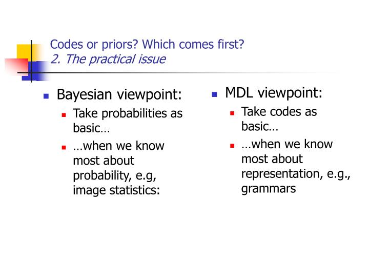 MDL viewpoint: