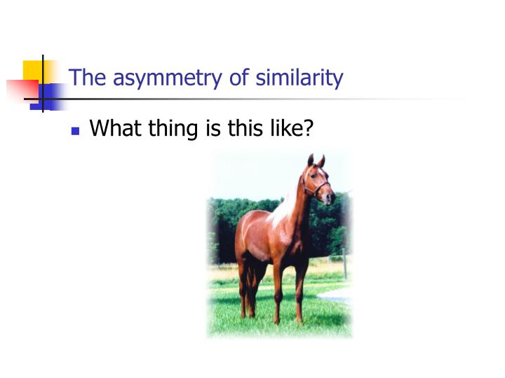 The asymmetry of similarity