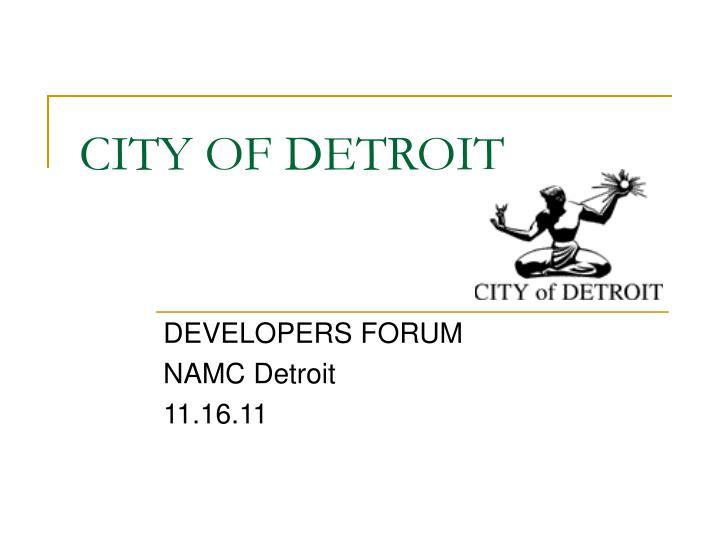 city of detroit n.