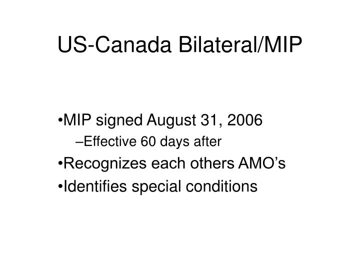 Us canada bilateral mip1