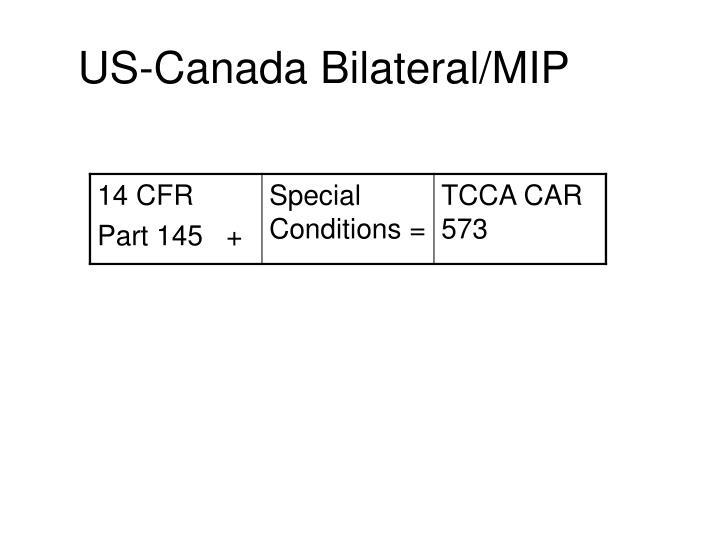 Us canada bilateral mip2