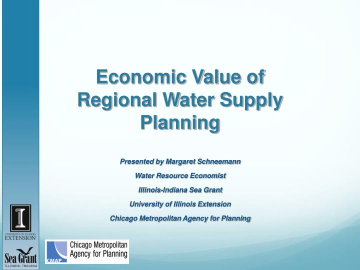 economic value of regional water supply planning n.