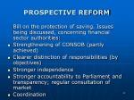 prospective reform