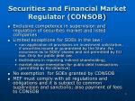 securities and financial market regulator consob
