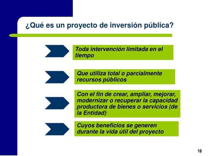 ¿Qué es un proyecto de inversión pública?