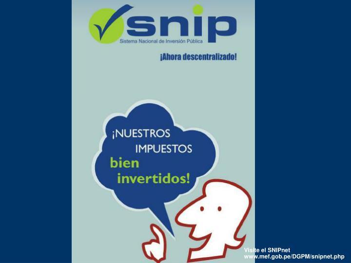 Visite el SNIPnet
