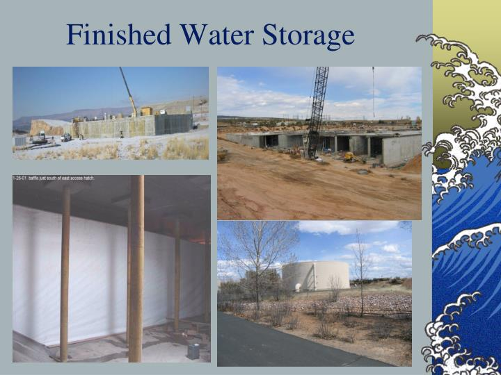 Finished Water Storage